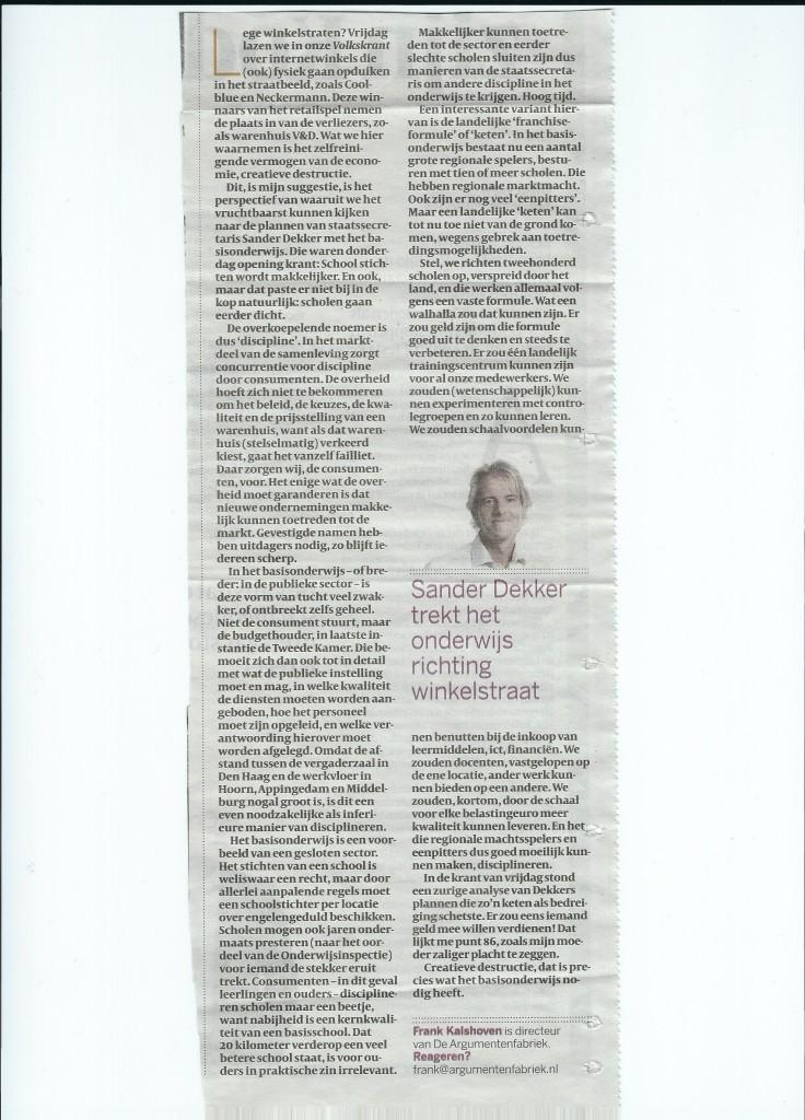 tekst column van Kalshoven