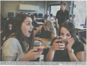 foto klas mobieltje